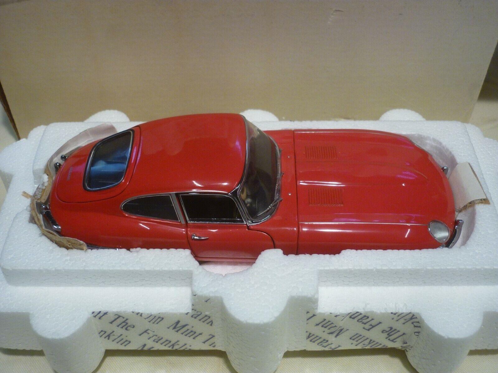 A Pre-owned Franklin mint  1961 E Type Jaguar,  Boxed,