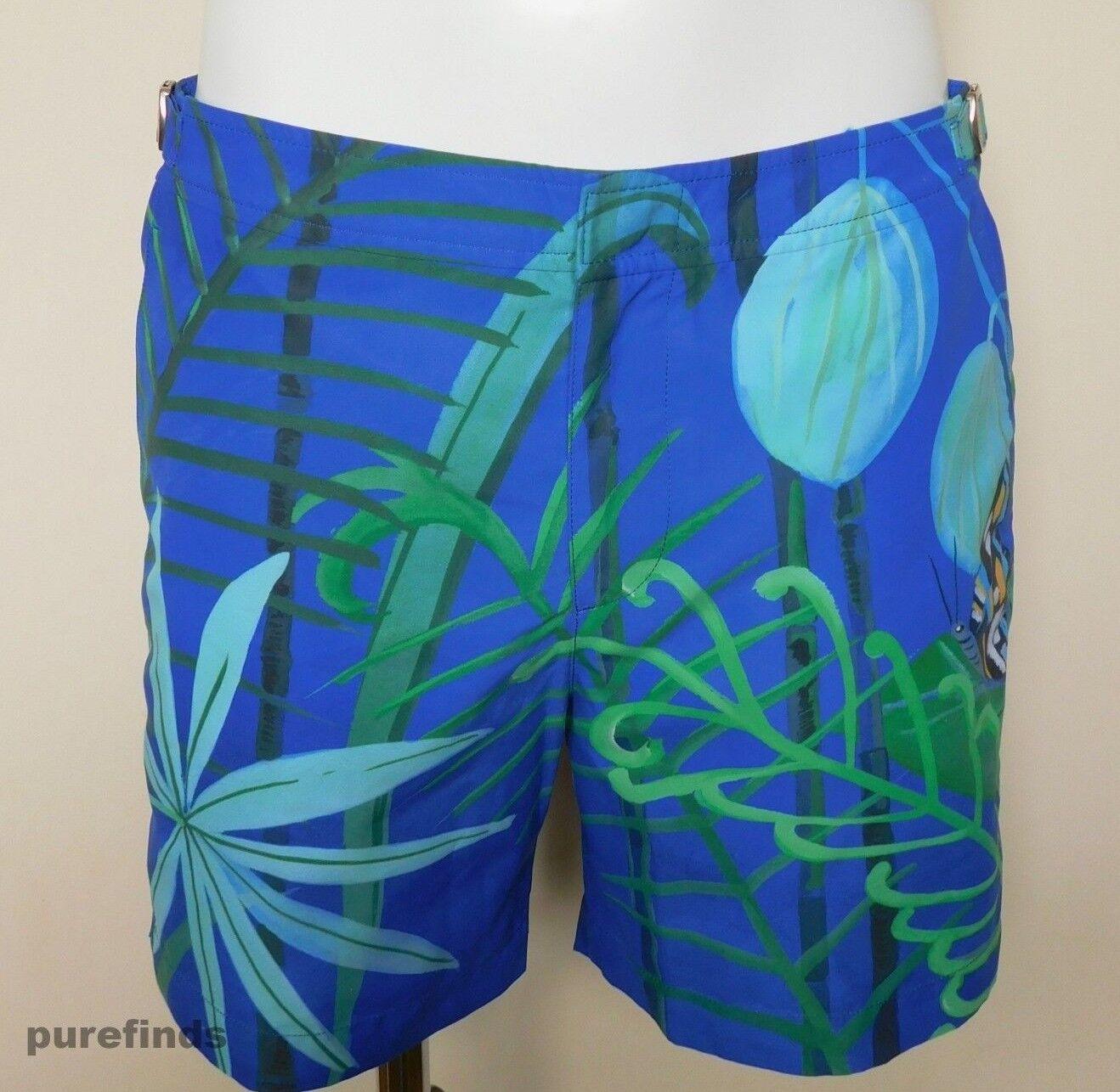 ORLEBAR Marronee Bulldog Konstantin Taglia 34 Swim Pantaloncini colore Midnight Monarch Nuovo con etichette