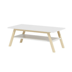 Image Is Loading Lahti 2 Coffee Table White Solid Beech Wood