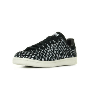 Chaussures Baskets adidas homme Stan Smith taille Noir Noire Synthétique Lacets