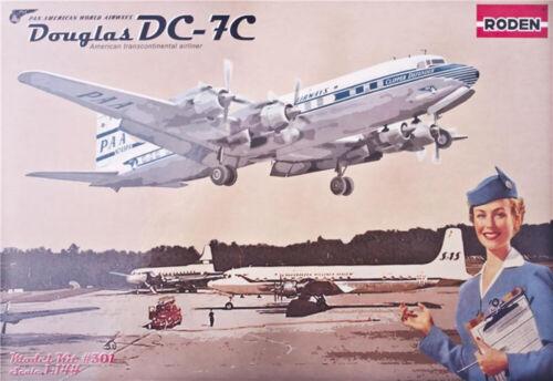 DC-7C Pan American Airways 1953-58 Year 1//144 Scale Plastic Model Kit RODEN 301