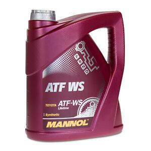 4 (1x4) Litre Mannol Atf Ws Automatique Transmission Pour , Aisin Warner, Toyota