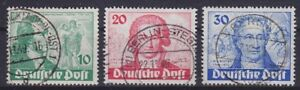 Berlin Mi Nr 61 - 63 TOP geprüft Schlegel BPP 2x tiefst, gestempelt, Goethe 1949