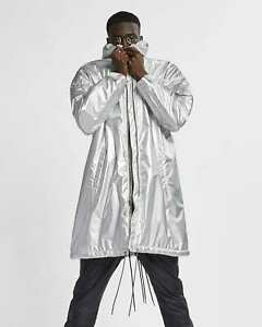 Nike x Fear of God NRG Parka Metallic Silver Jacket AR0646 095 Men's Size XXL