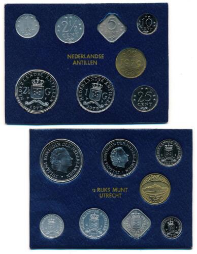 Netherlands Antilles 1979 Queen Juliana official mint coin year set FDC