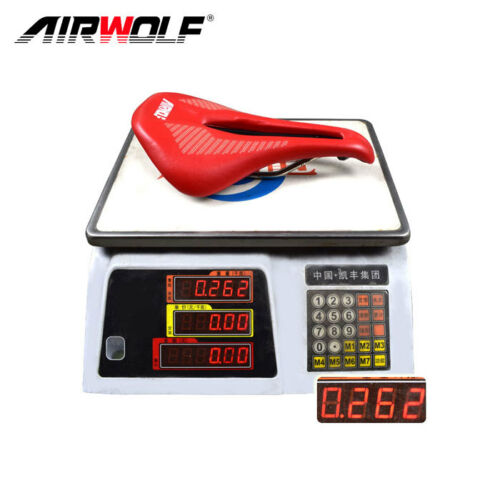 Airwolf Cycling Bicycle Seat Saddle MTB Road Bike leather Saddles Red Color