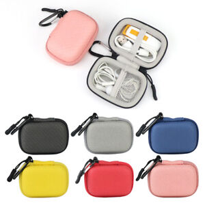 IKSNAIL EarBuds Headphone Case Carabiner Mini Storage Carrying Box for AirPods