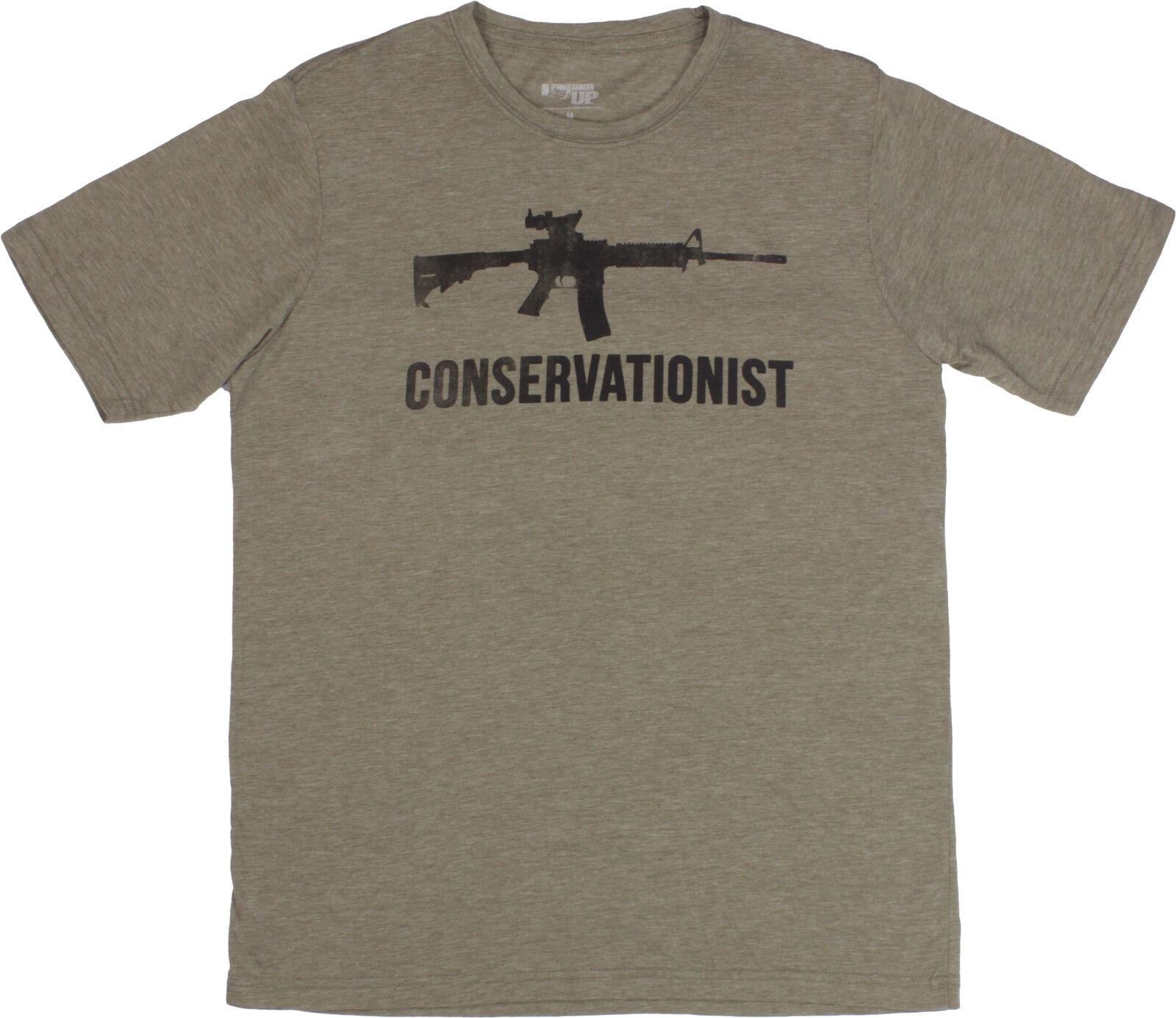 Ranger Up Mens Conservationist Military Veteran T- Shirt - Olive Green