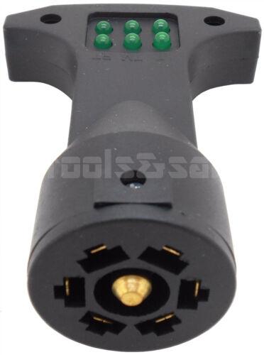 4 WAY FLAT /& 7 WAY ROUND TRAILER WIRING TESTER LIGHT BRAKE TAIL TURN SIGNAL SET
