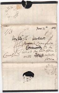 1833-MOURNING-LETTER-gt-HON-EDWARD-HERBERT-UDCs-TOTNES-FARRINGDON-REDIRECTED-TWICE