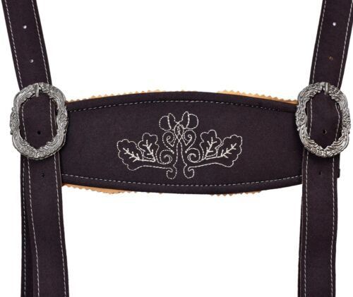 Oktoberfest Bavarian LEDERHOSEN Men Synthetic Leather Matching Suspenders Short