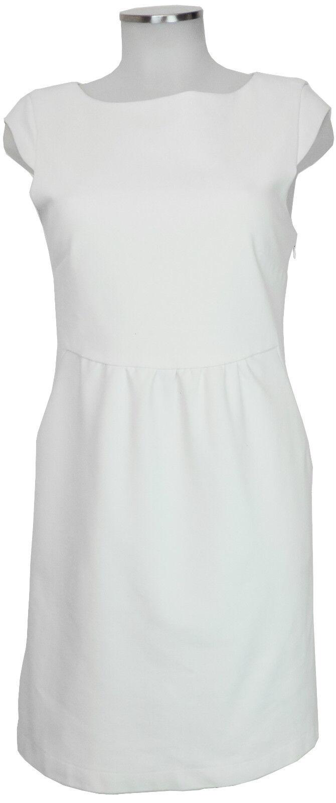 Joana Danciu Kleid Etuikleid 36 38 weiss Viskose femininer Luxus dress top