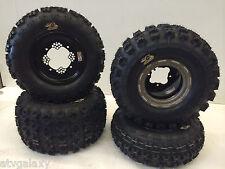 DWT Champion Box Beadlock Wheels GBC XC Master Tires Front/Rear Honda TRX 250R
