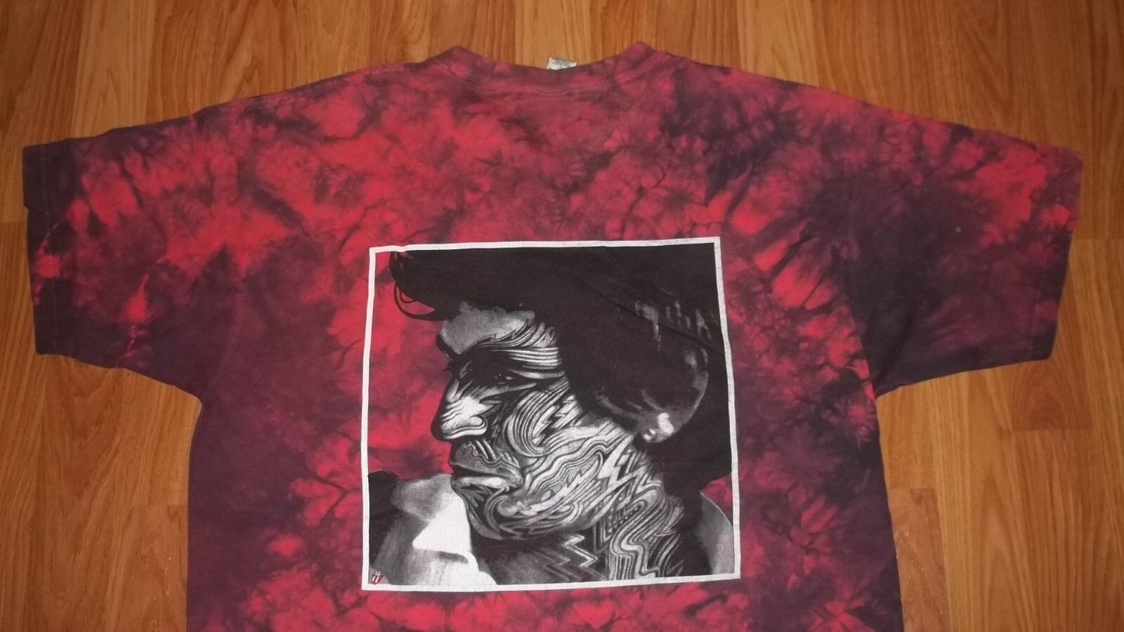 (2 Sided) ROLLING STONES Tie Dye TATTOO YOU T-Shirt mens Damenss L Keith Richards