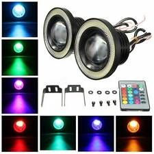 "Wireless Control 3.5"" LED RGB Color Fog Lights White Angel Eye Rings for HONDA"