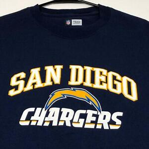 San-Diego-Chargers-NFL-Football-Men-s-Short-Sleeve-Graphic-T-Shirt-Large-L-Blue