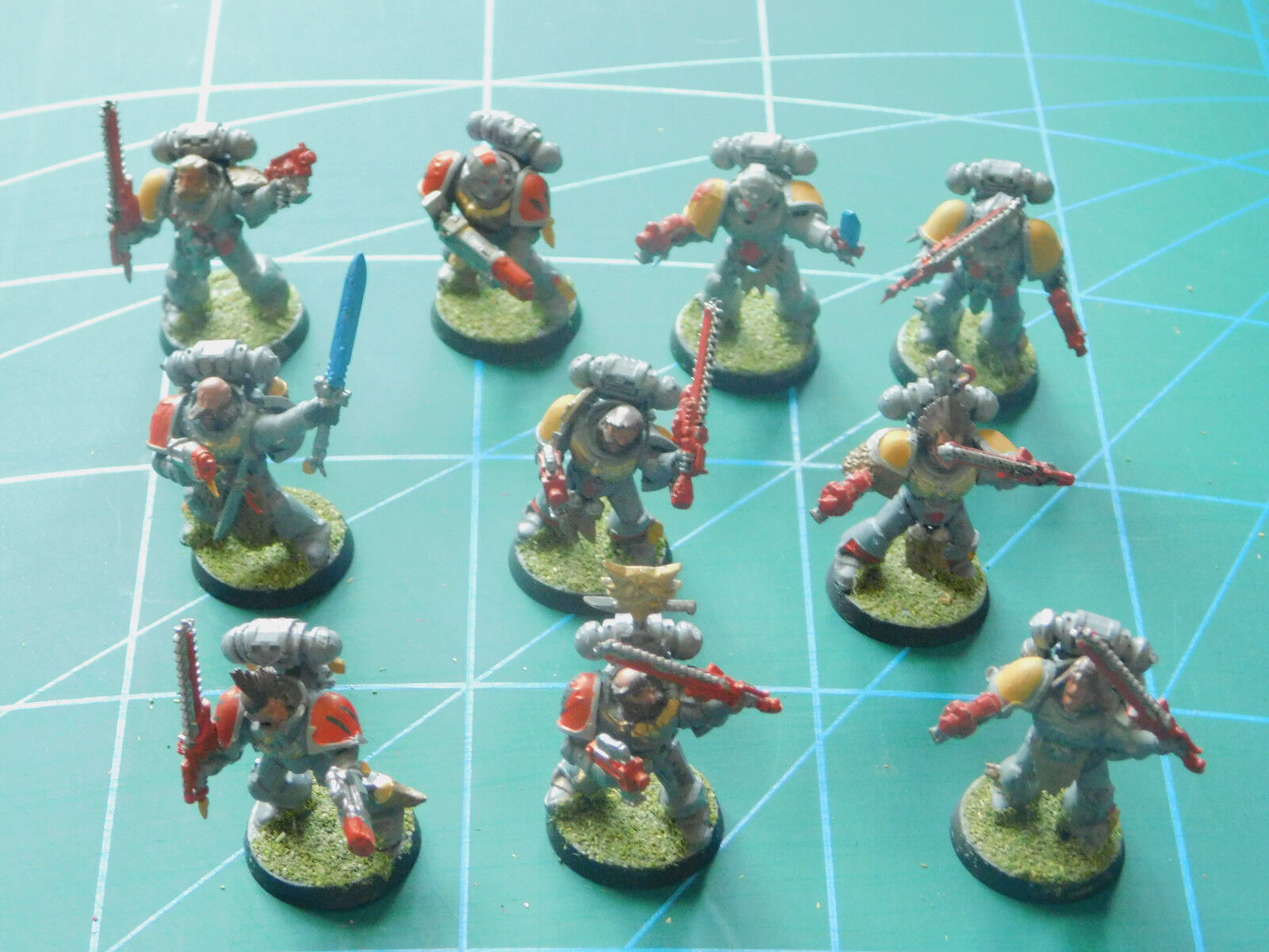 10 warhammer 40k dungeons dungeons dungeons dragons space marine painted plastic figures 883a29