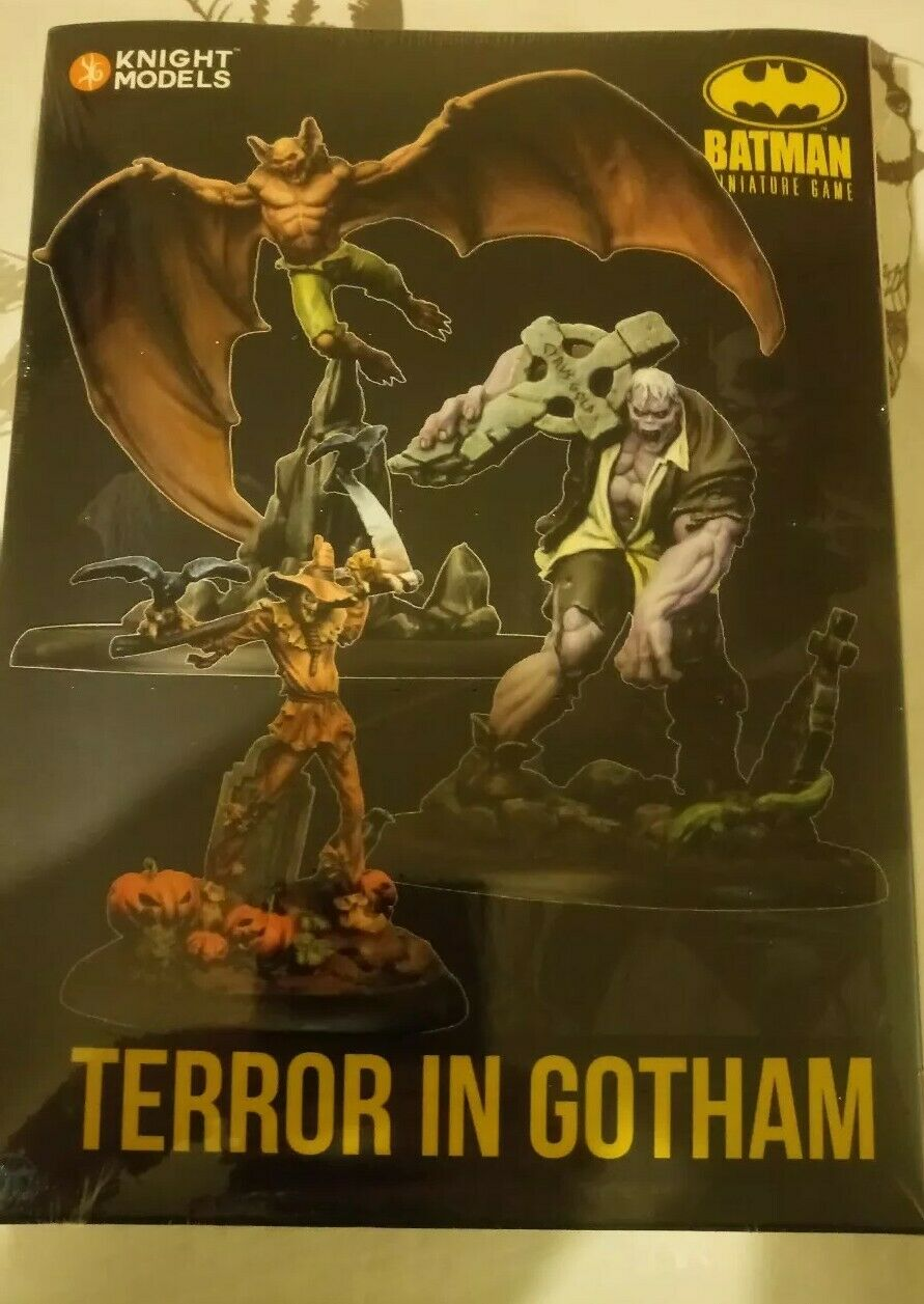 Terror In Gotham Batman Miniature Game Knight models New and Sealed