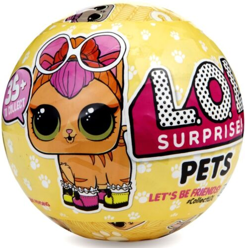 LOL Surprise Series 3 Pets Wave 1 Mystery Pack Cat on Package