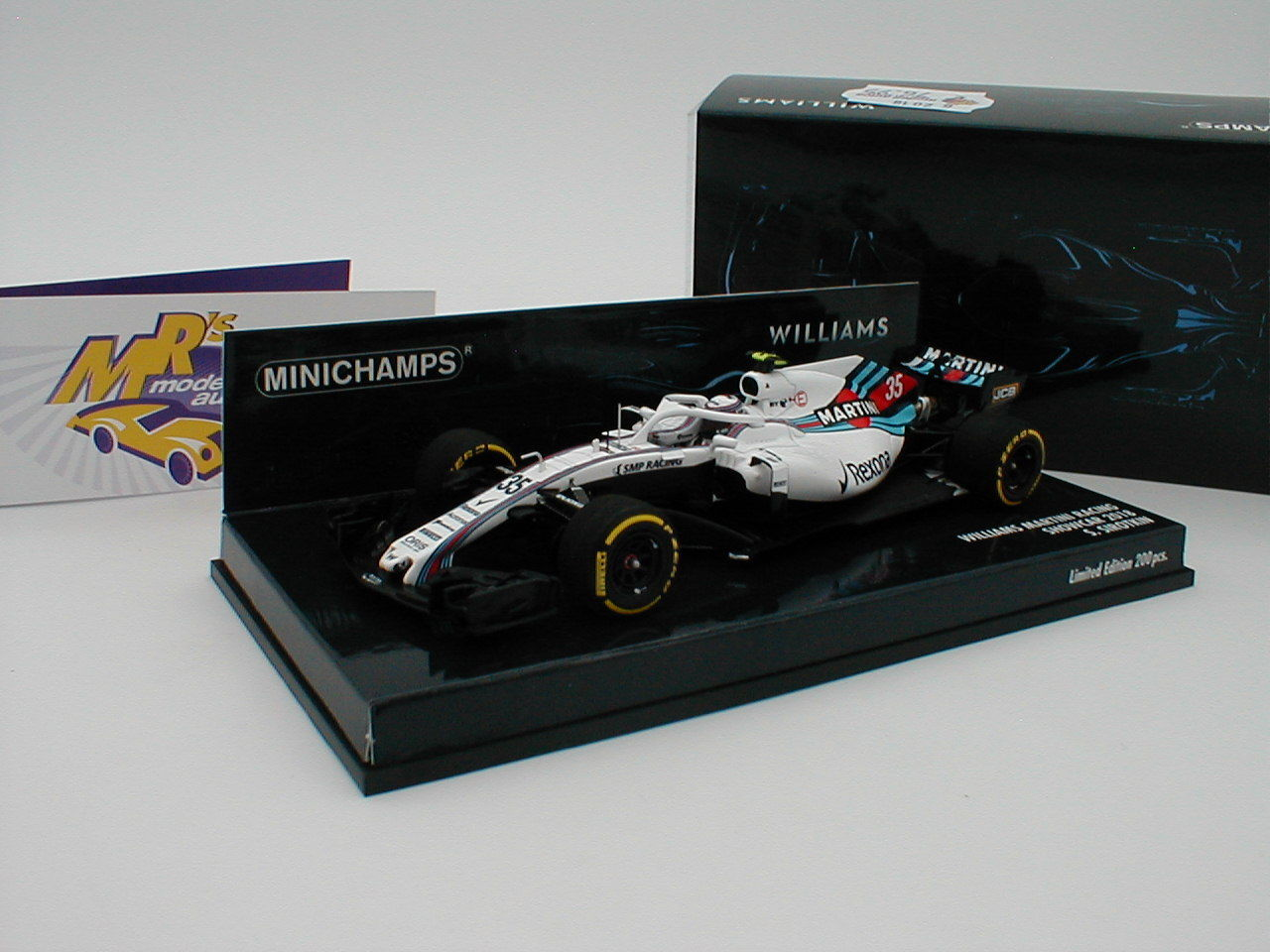 MINICHAMPS 417189035-Williams Martini f1 team showcar 2018  S. Sirougekin  1 43