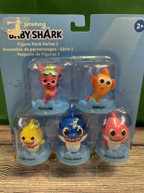Baby Shark 5 Figure Pack Series 1 Pinkfong William Mommy