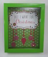 All I Want Christmas Wish Dream Shadow Box Slot Present Request List 10 H 29