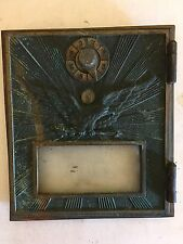 Antique US Soaring Eagle Post Office PO BOX Brass Door Combination Lock  Rays 08