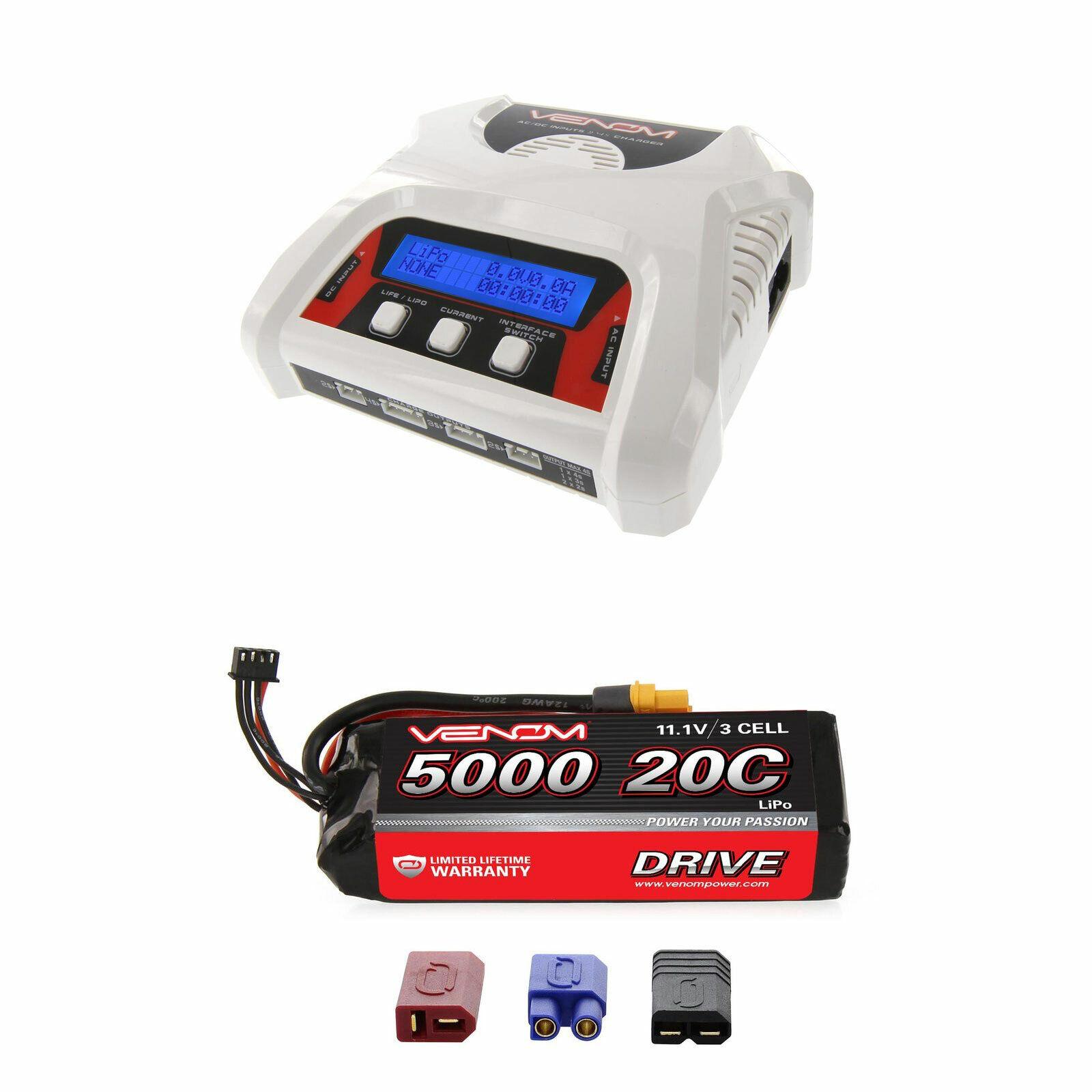 Venom 20C 3S 5000mAh 11.1V batería LiPo con 2-4 células de equilibrio Cargador Combo