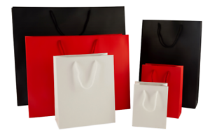 Luxury Matt Paper Gift//Carrier Bags with Rope Handles