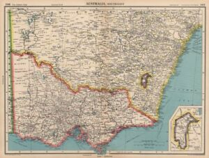 Australia Map Jervis Bay.Details About South East Australia Victoria Nsw Federal Capital Territory Jervis Bay 1944 Map