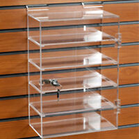 Locking Acrylic Showcase For Slatwall With Lock 10 1/2 W X 5 1/2d X 15 H