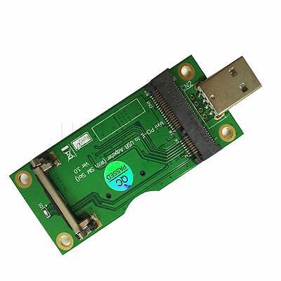 Mini PCI-E to USB Adapter with SIM Card Slot for WWAN/LTE Module