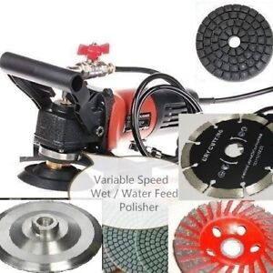 Wet Polisher Grinder Stone Cutter Lapidary Saw 23 Pad