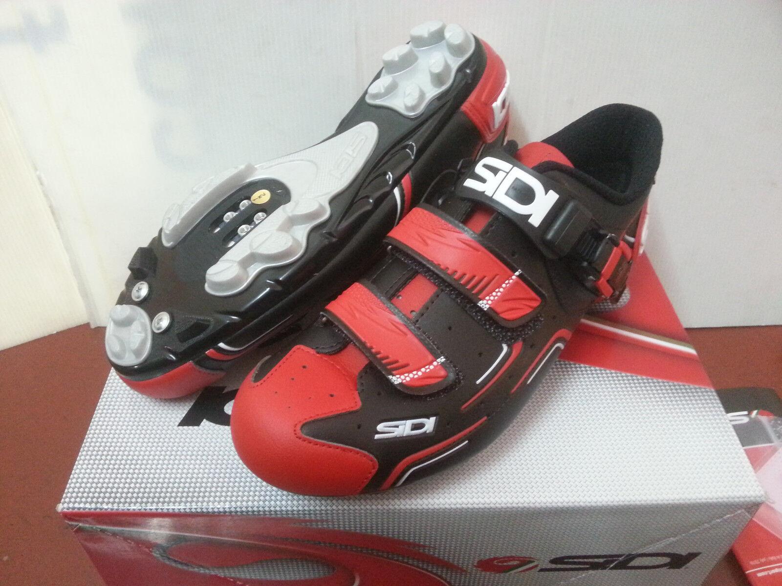 NEW zapatos SIDI X BICI MTB BUVEL TG 45 rojo negro negro rojo ColorAZIONE 2017