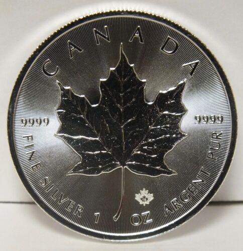 JY044 1 oz Canadian bullion 2018 Canada $5 Maple Leaf .9999 Fine Silver Coin