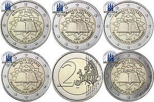 Deutschland-2-Euro-Roemische-Vertraege-Set-2007-Mzz-A-D-F-G-J-im-Muenzstreifen