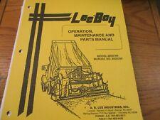 Leeboy Model 8000 Bh Paver Operators Amp Maintenance Parts Manual