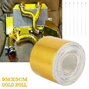 9M-Aluminium-Foil-Adhesive-Reflective-Tape-Heat-insulating-Wrap-for-exhaust-pipe