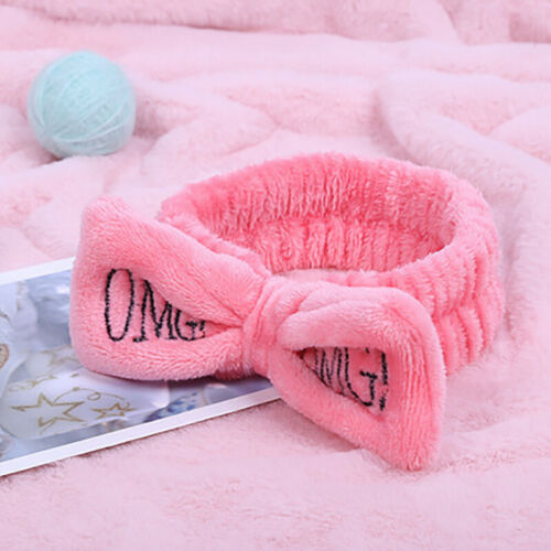 Frauen Haarbänder Bowknot Wash Face Turban Kopfschmuck Coral Velvet Stirnband
