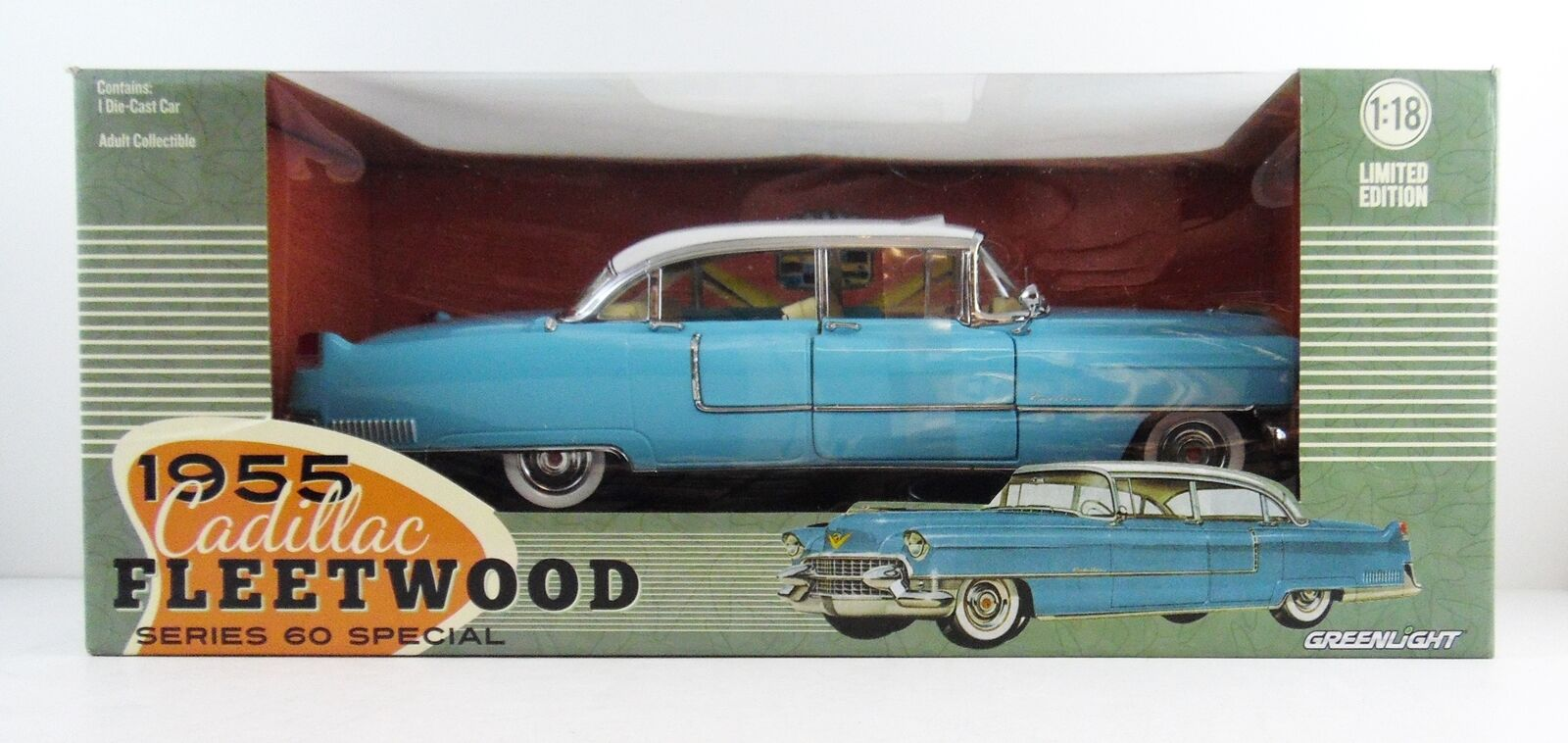 1955 Cadillac Fleetwood 60 Series 4 Door 1 18 Scale NEW NIB Awesome   LAST ONE