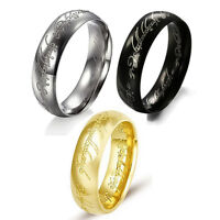 Silver,Gold, Black Lord of the Rings Men Women Fashion Stainless Steel Ring