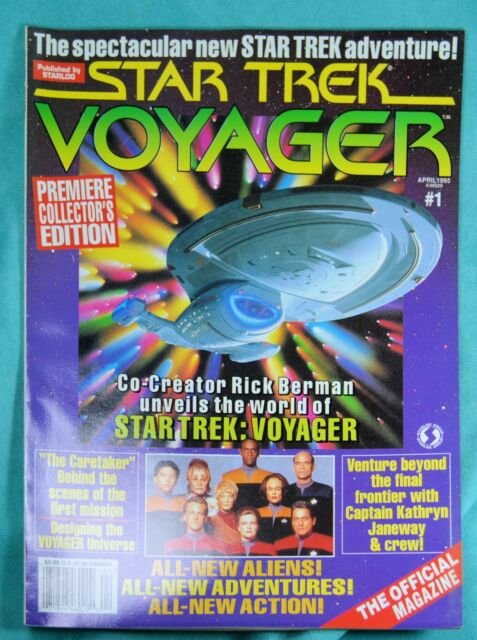STAR TREK Voyager MAGAZINE April 95 Enterprise cover #1 Rainbow last chance