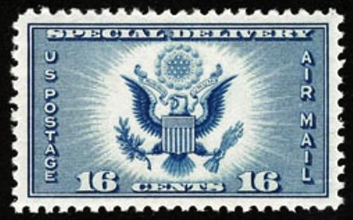 1934 16c Great Seal, Special Delivery, Air Mail Scott C