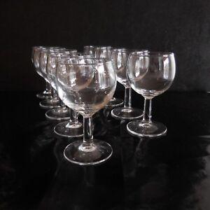 Détails sur 9 verres petit ballon alcool vin liqueur art déco vintage design XX France N3373