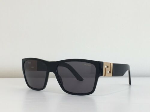 c1442be938 2 of 12 Versace MOD 4296 GB1 81 Rectangle Black Gray Gold Polarized  Sunglasses 59-16-