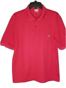 Lacoste-Men-039-s-Short-Sleeve-Polo-Shirt-Size-6-XL-Red