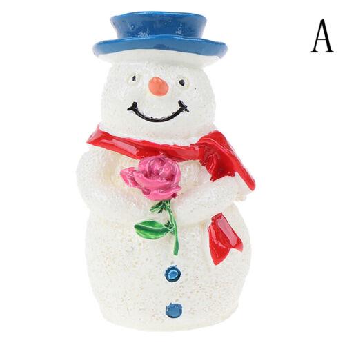 Christmas Snowman DIY Miniature Figurine Garden Dollhouse Decors Micro Landscape