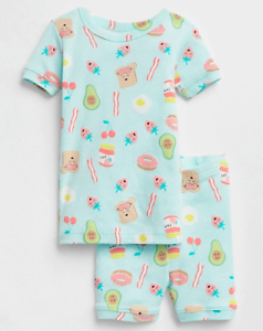 f4232f6d4676 GAP BABY GIRL BREAKFAST SHORT SLEEP SET PAJAMAS NWT 3T 4T N5 NNN