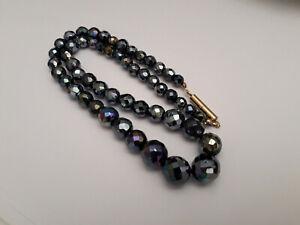 Antica-collana-anni-039-50-in-cristallo-nero-ab-iridescente