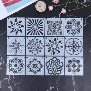 12Pcs-Dotting-Painting-Stencils-Kit-For-Mandala-DIY-Stone-Painting-Template-YK